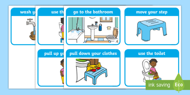 Toileting safety clipart png download Toilet Training at Home (Boys) Sequencing Cards - potty ... png download