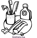 Toilettries clipart black and white image black and white Toiletries Clip Art (107+ images in Collection) Page 2 image black and white