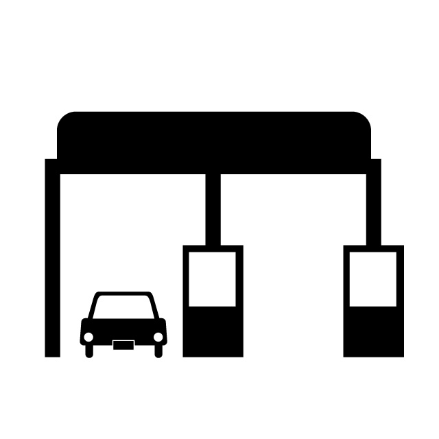 Toll booth clipart image library library High Speed Toll Booth - Map Icon - Free Material - 640*640 ... image library library