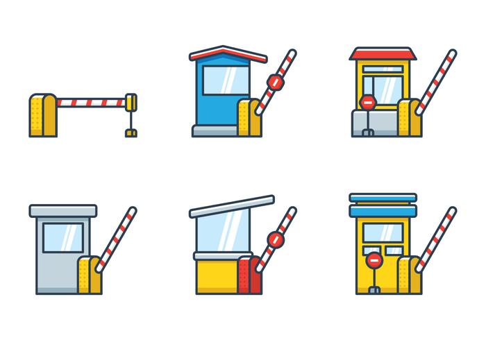 Toll booth clipart image black and white library Toll Booth Icon - Download Free Vectors, Clipart Graphics ... image black and white library