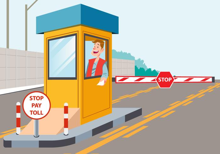 Toll booth clipart clip art black and white stock Toll Booth Worker - Download Free Vectors, Clipart Graphics ... clip art black and white stock