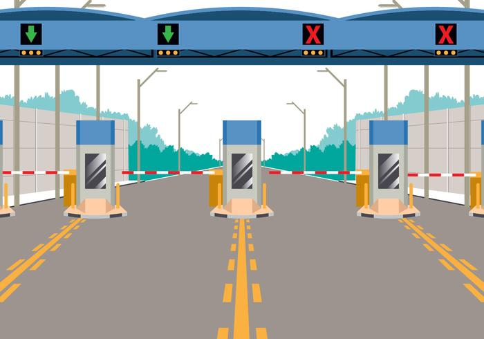 Toll road clipart banner transparent download Toll Booth On Highway - Download Free Vectors, Clipart ... banner transparent download