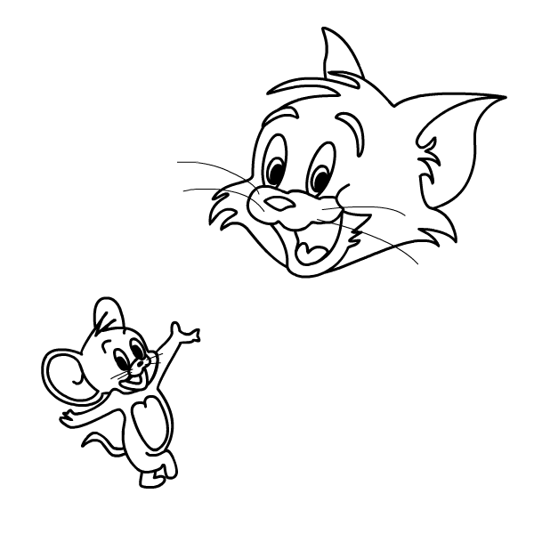 Tom and jerry clip art black and white clipart library download Patrick Owsley Cartoon Art and More!: TOM AND JERRY VINTAGE STYLE ... clipart library download
