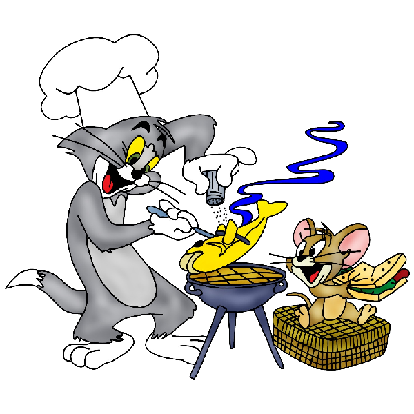 Tom and jerry clipart clip black and white library Cartoon Grid Tom And Jerry Clipart - 4586 - TransparentPNG clip black and white library