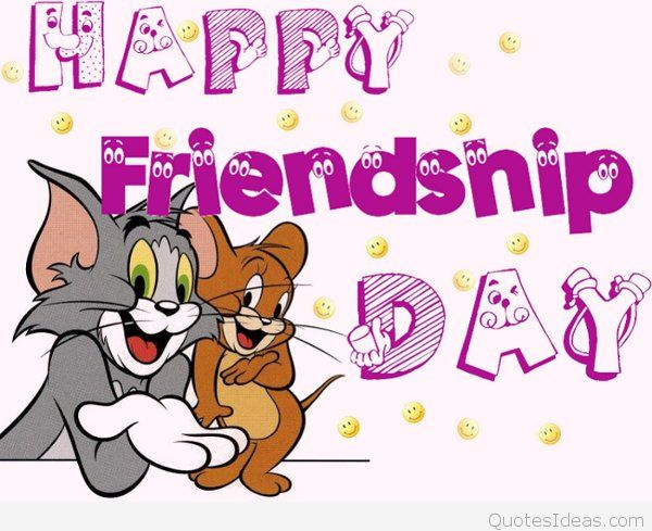 Tom and jerry friendship clipart vector transparent stock Funny Tom and Jerry Happy Friendship day vector transparent stock