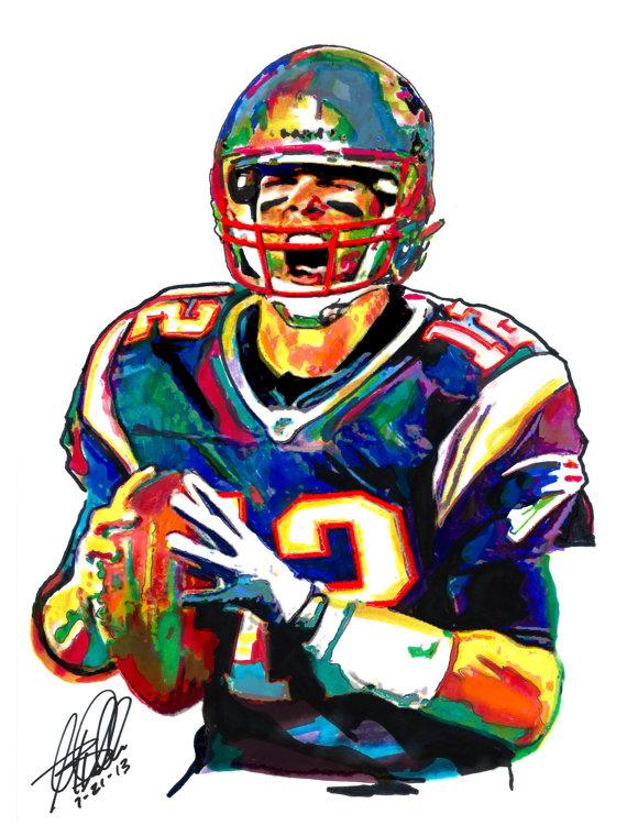 Tom brady clipart clipart download Tom Brady the New England Patriots Quarterback Football clipart download