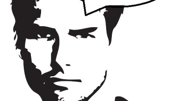 """Tom cruise clipart picture black and white stock Jerry Maguire: """"You had me at hello"""" Quote Off Extravaganza ... picture black and white stock"""
