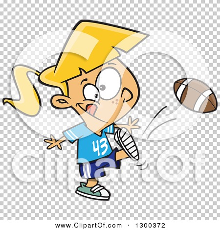 Tom girl clipart png black and white Clipart of a Cartoon Blond White Tom Boy Girl Kicking a Football ... png black and white