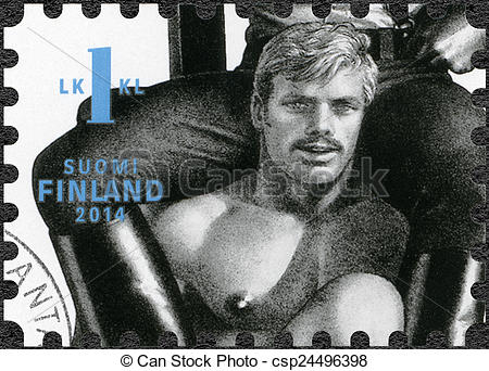 Tom of finland clipart vector library stock Stock Photographs of FINLAND - 2014: shows drawing by Tom of ... vector library stock