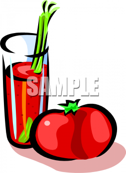 Tomato juice clipart jpg royalty free Glass of Tomato Juice Clipart Picture - foodclipart.com jpg royalty free