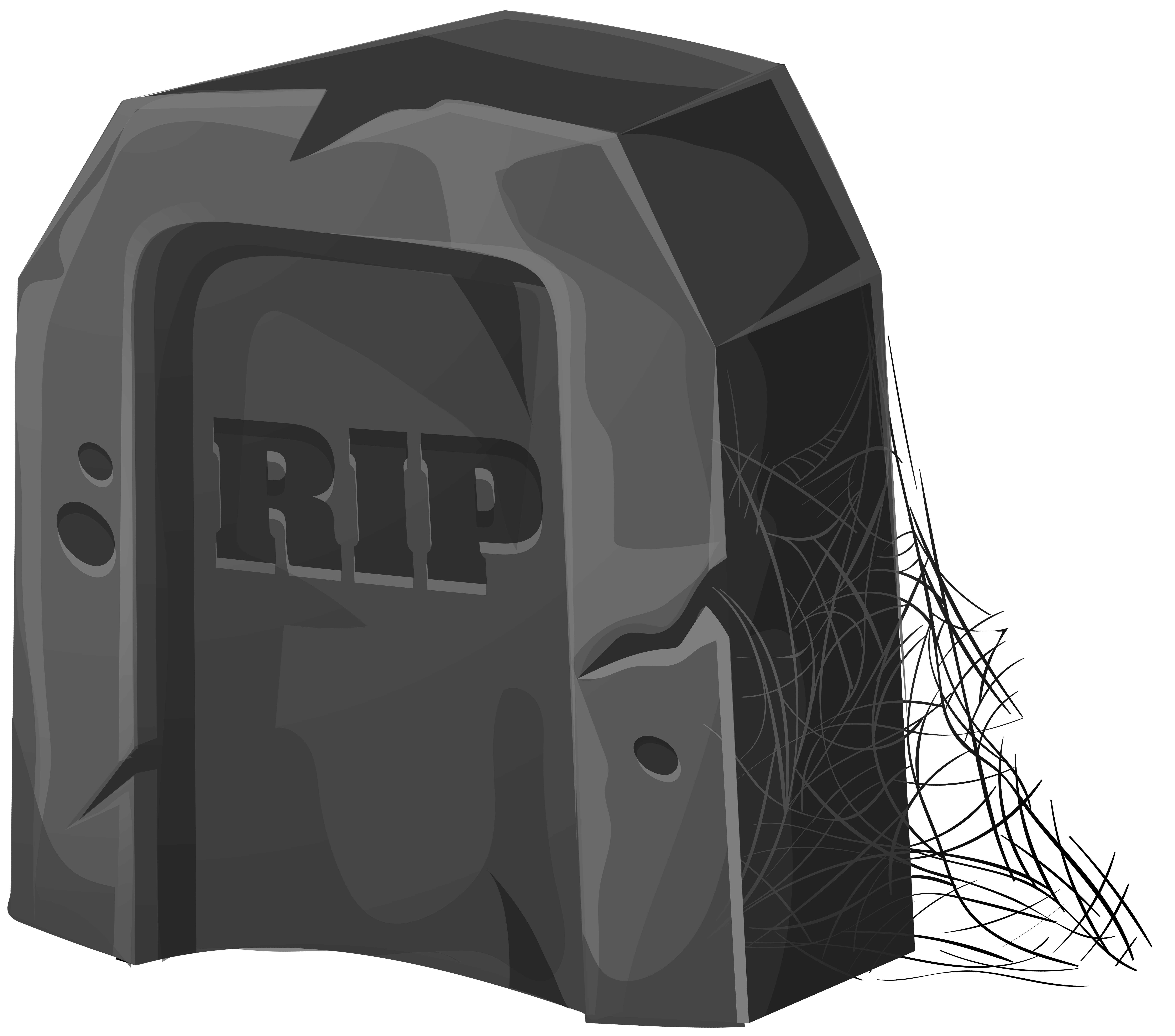 RIP Tombstone PNG Clip Art Image | Gallery Yopriceville - High ... jpg black and white library