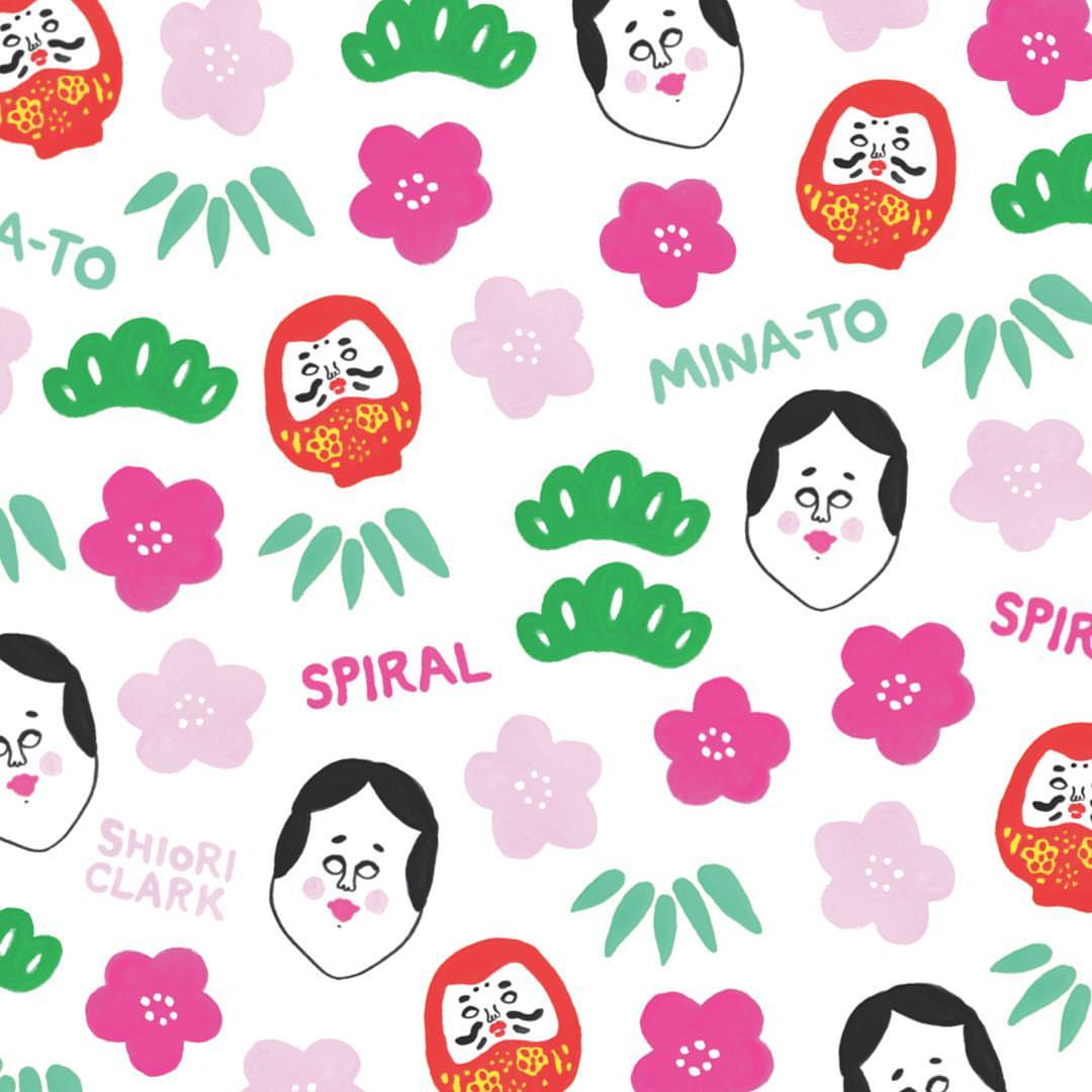 Tomichihi clipart black and white download New pattern for Spiral. スパイラルで4月29日から、コースター ... black and white download