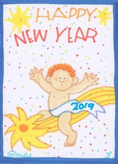 Tomie depaola clipart clip art royalty free The Official Tomie dePaola Blog: VINTAGE Happy New Year! clip art royalty free