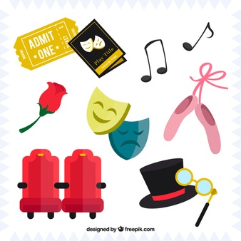 Toneel clipart vector library Stage Props Clipart vector library