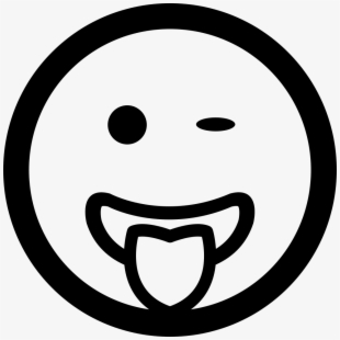 Tongue smile face clipart black and white banner library stock Clipart Transparent Download Wink Emoticon Smiley Face ... banner library stock