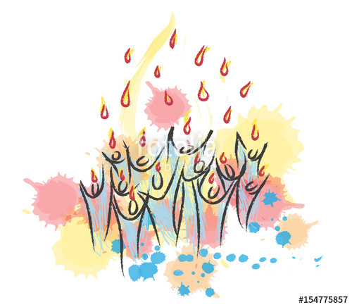 Tongues of fire pentecost clipart picture transparent library Pentecost - descent of the Holy Spirit in form of tongues of ... picture transparent library