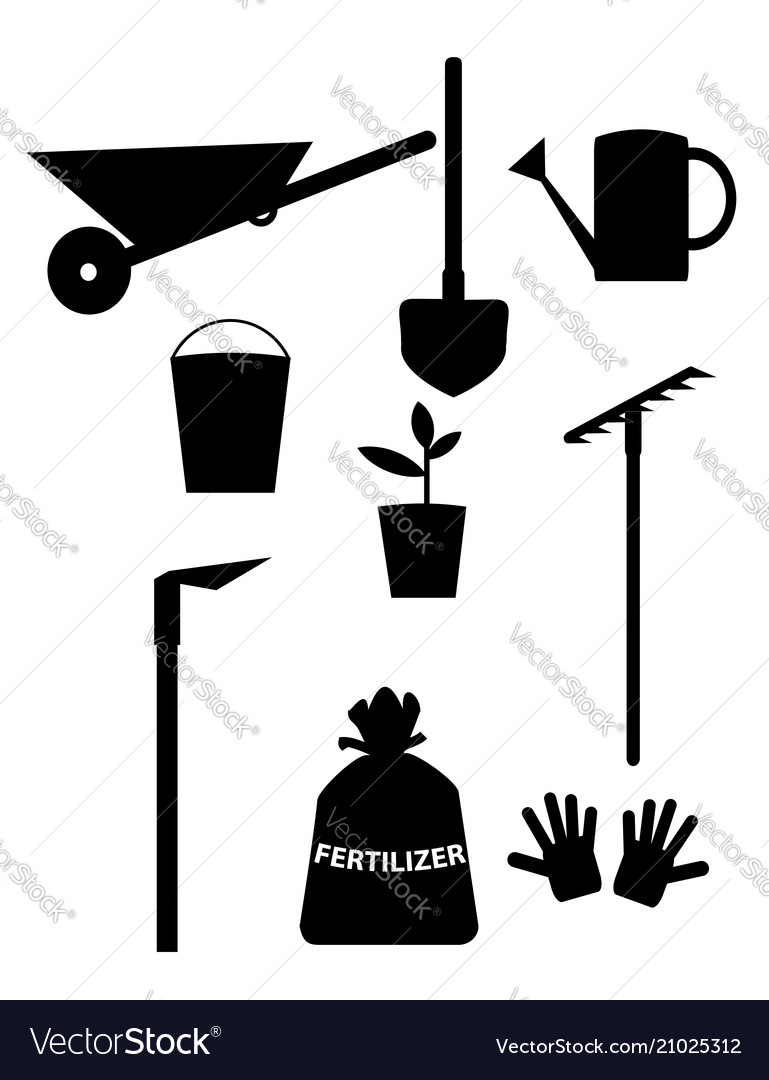 Tools and equipment clipart clipart free library Garden tools and equipment clipart for design clipart free library