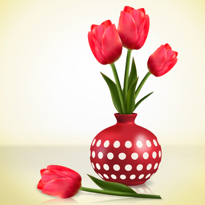 Tools arranged in a paint can vase clipart svg transparent download Create Detailed Tulips With Gradient Mesh, Without the Mesh ... svg transparent download