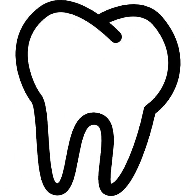 Tooth clipart outline svg download Contorno Dos Dentes | Canvas Art | Dental images, Tooth ... svg download