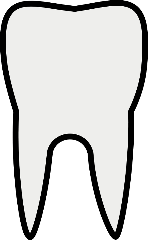Tooth clipart outline clipart black and white library Free Tooth Images Free, Download Free Clip Art, Free Clip ... clipart black and white library