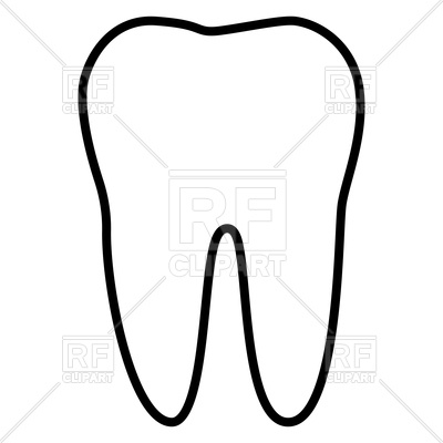 Tooth clipart outline picture library library Tooth outline clipart 3 » Clipart Station picture library library