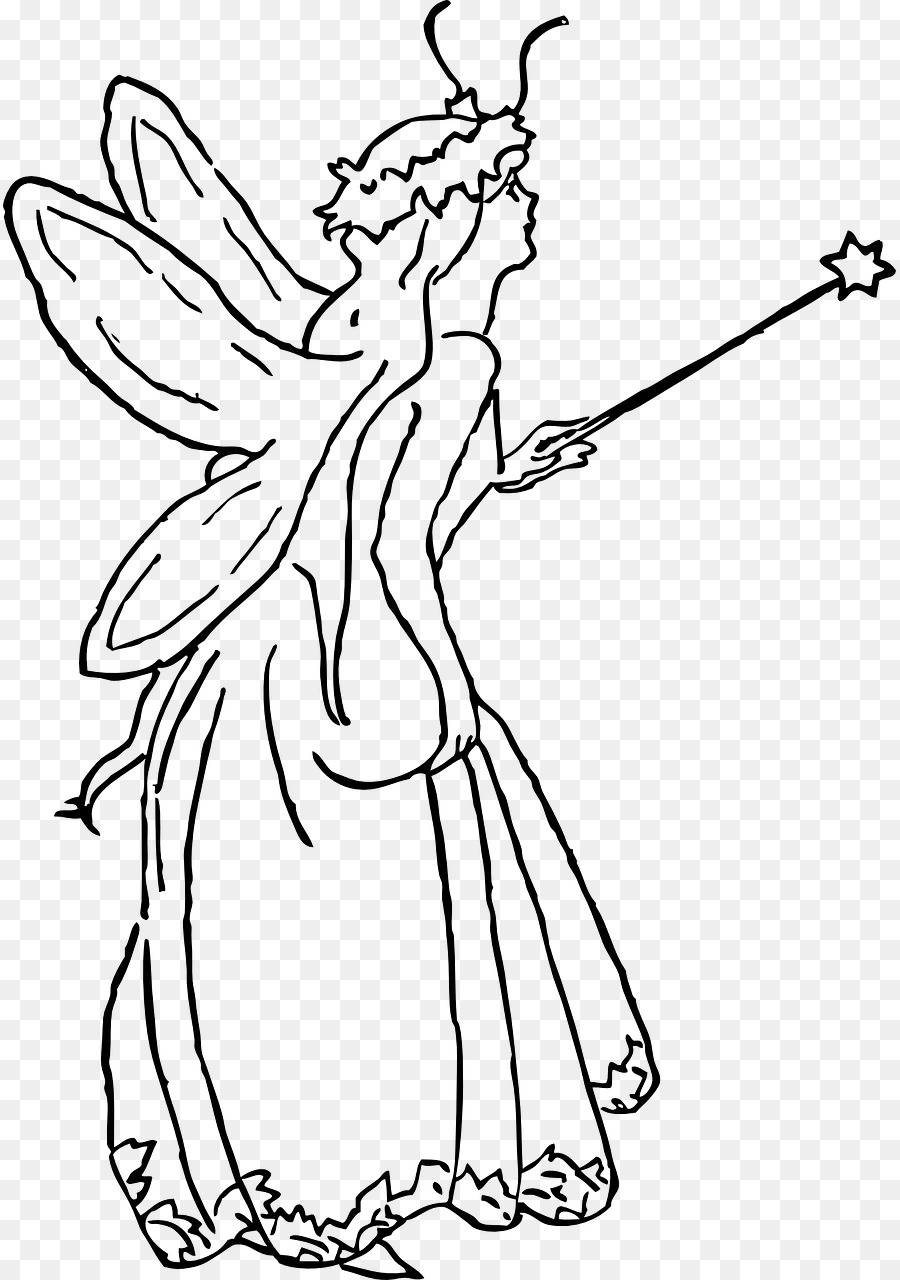 Tooth fairy clipart black and white vector stock Black And White Flower clipart - Fairy, Woman, Hand ... vector stock