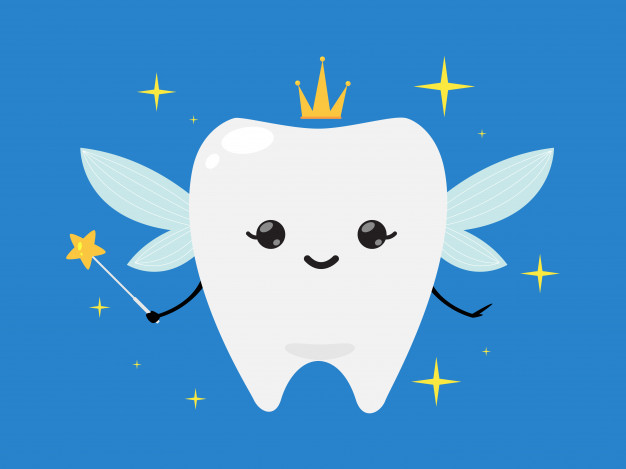 Tooth fairy wand clipart jpg freeuse download Tooth fairy wearing crown and holding a star magic wand ... jpg freeuse download