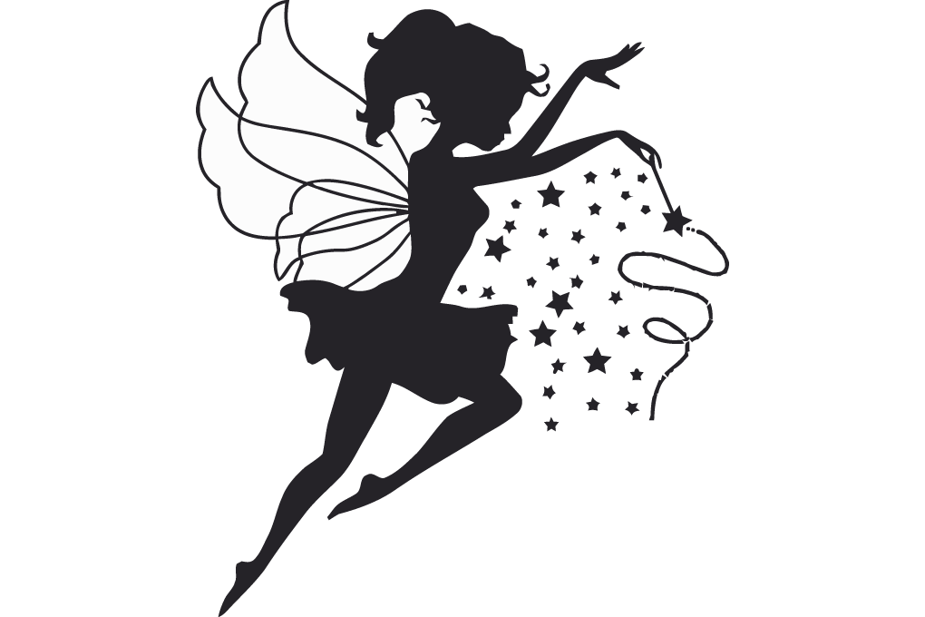 Tooth fairy wand clipart clipart black and white download Tooth fairy Wall decal Fairy godmother - magic wand png ... clipart black and white download