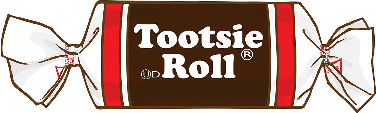 Tootsie roll clipart clip black and white stock Tootsie Roll Drawing at PaintingValley.com | Explore ... clip black and white stock