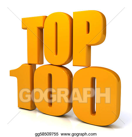 Top 100 clipart clipart transparent library Stock Illustrations - Top 100 words over white background ... clipart transparent library