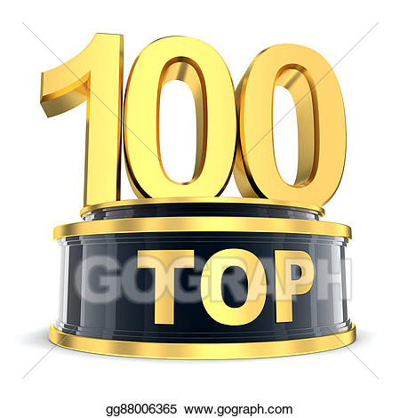 Top 100 clipart jpg free Stock Illustration - Top 100 award. Clipart gg88006365 - GoGraph jpg free