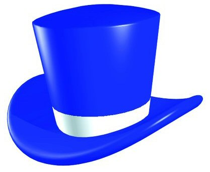 Top hat clipart blue ribbon vector black and white Blue Top Hat Clipart - Clip Art Library vector black and white