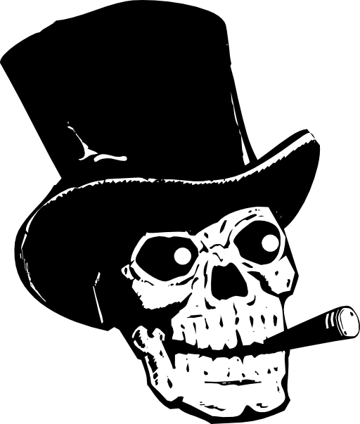Top hat money clipart jpg freeuse Skull With Top Hat And Cigar Clipart | i2Clipart - Royalty Free ... jpg freeuse