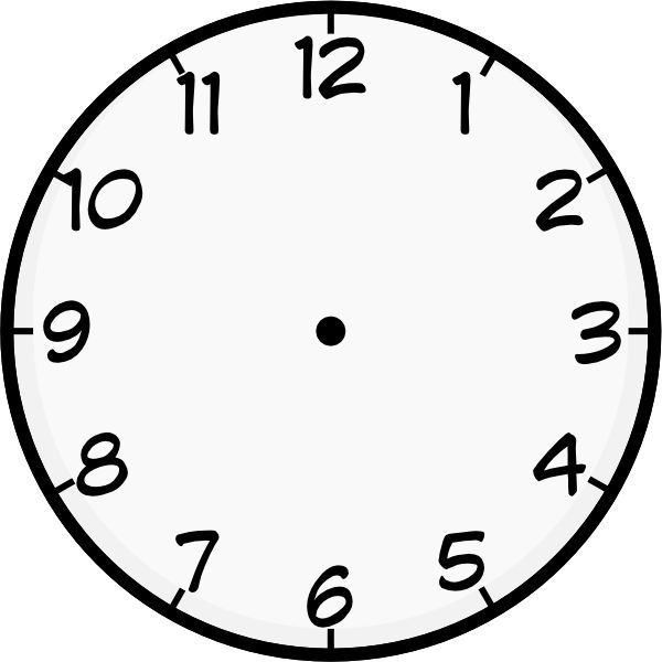 Top line clock on the phone clipart free download clock template printable | Purzen Clock Face clip art ... free download