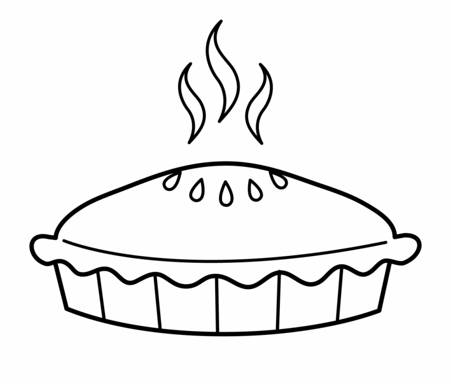 Top of a pie clipart jpg stock Pie Clipart Top View - Pie Black And White {#599647} - Pngtube jpg stock
