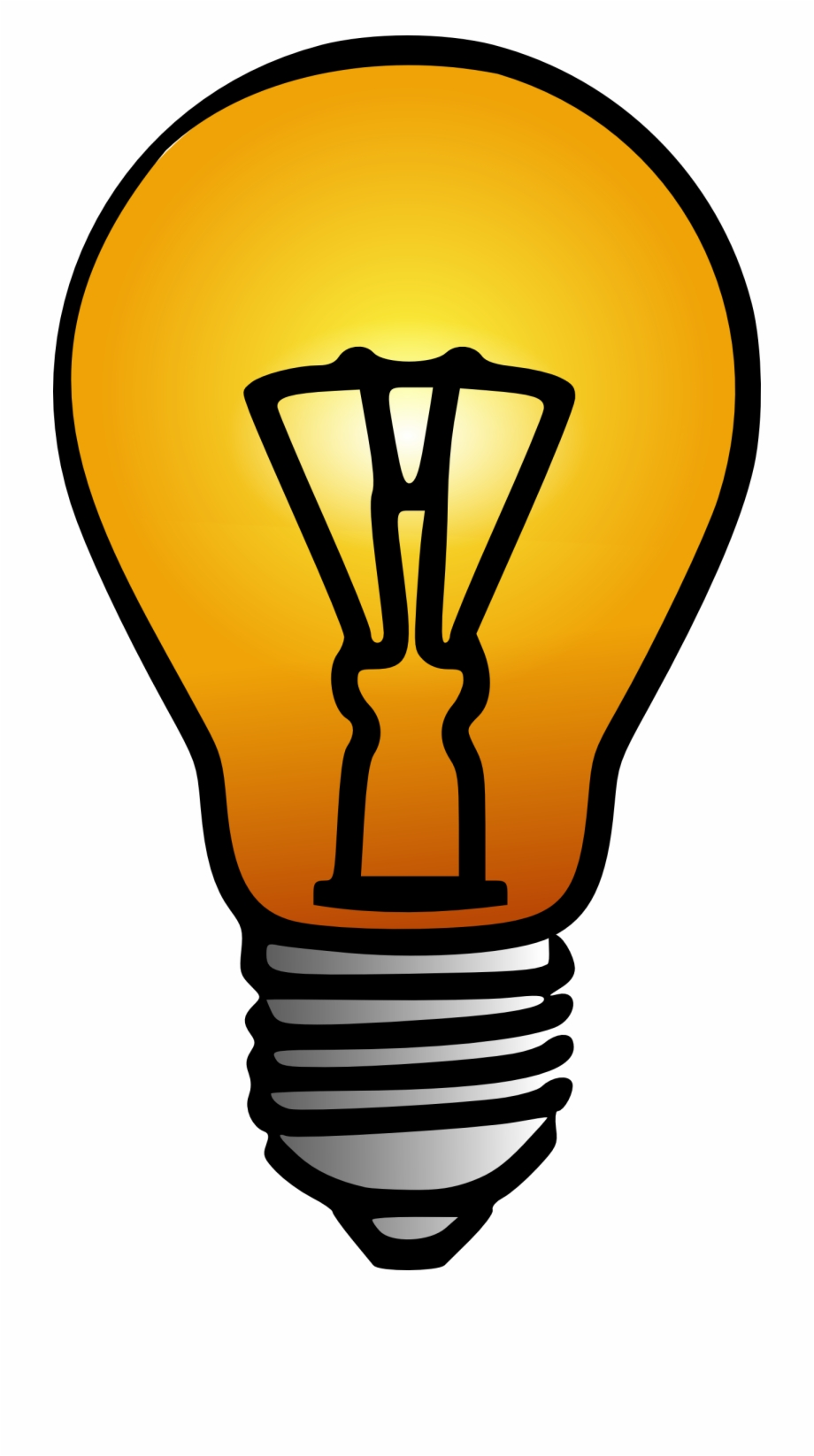 Top of light bub clipart image transparent stock Bulb Clipart Electric Bulb - Light Bulb Clip Art ... image transparent stock