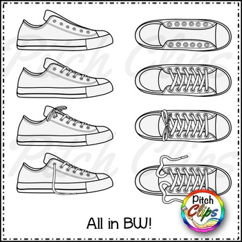 Top of shoe clipart clipart free Tennis Shoe Clipart (Clip Art) - Rainbow Brights Colors clipart free