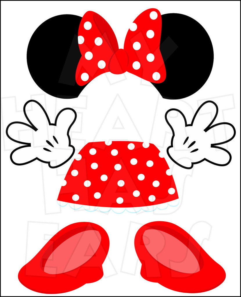 Top of the head clipart jpg library Minnie mouse head top minnie mouse clip art free clipart ... jpg library