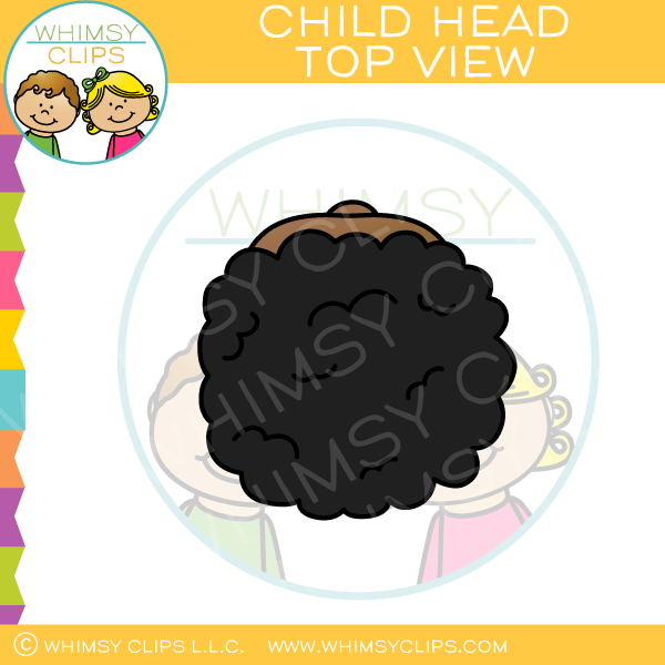 Top of the head clipart graphic transparent stock Child Head Top View Clip Art graphic transparent stock