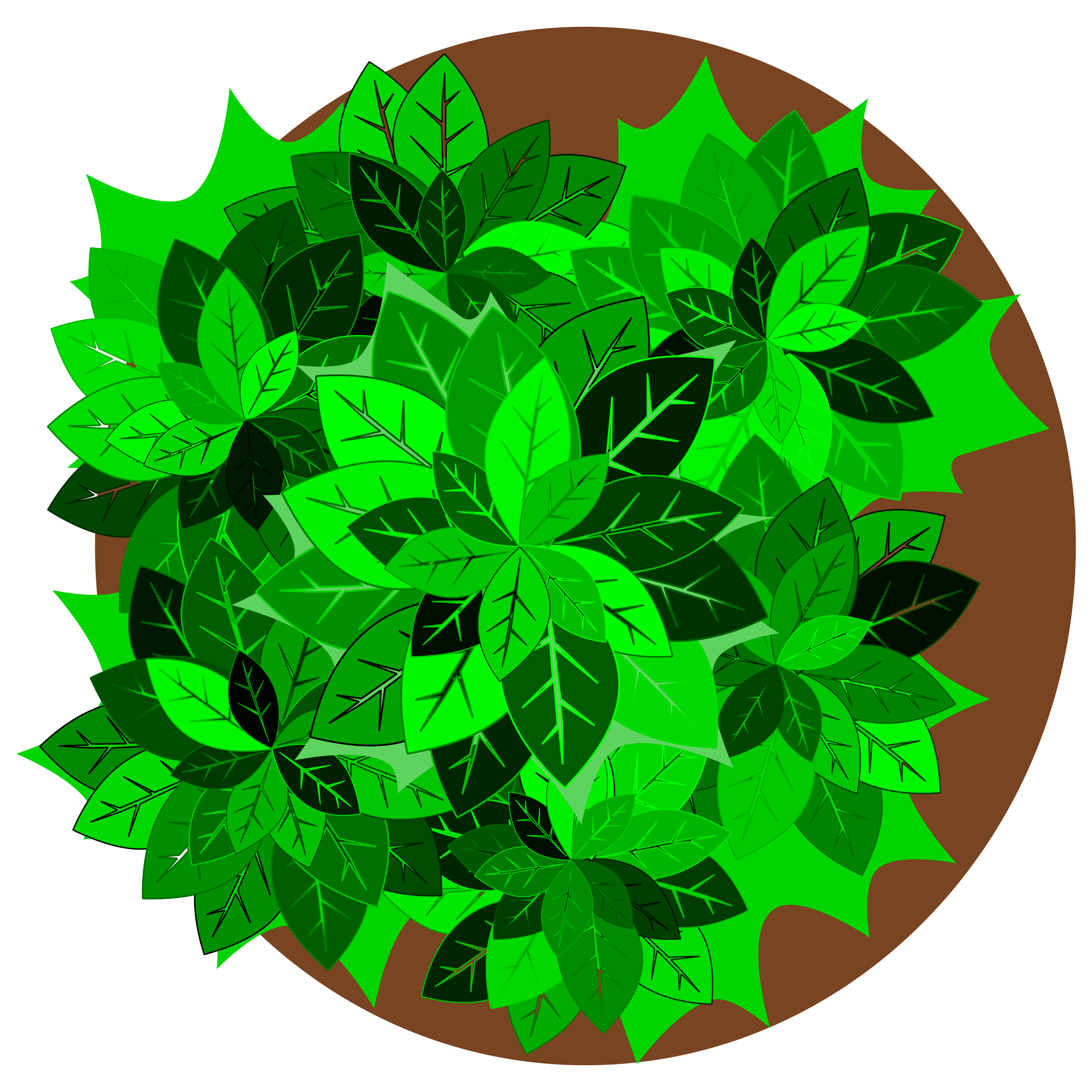 Clipart - Tree top view graphic royalty free stock