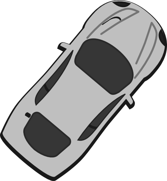 Top view of a car clipart royalty free clipart library library Gray Car - Top View - 50 Clip Art at Clker.com - vector clip art ... clipart library library