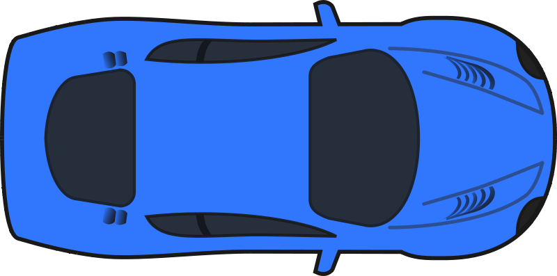 Top view of clipart car banner freeuse stock Free Clipart: Dark Blue Racing Car (Top View) | qubodup banner freeuse stock