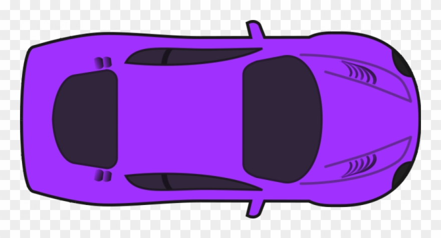 Top view of clipart car picture Simplepurplecartopview - Car Clipart Top View - Png Download ... picture