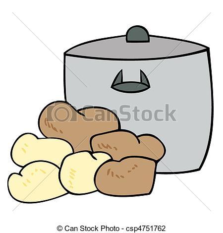Topf und deckel clipart clipart freeuse library Vektor Illustration von Topf, Kochen, Kartoffeln - Kochen, Topf ... clipart freeuse library