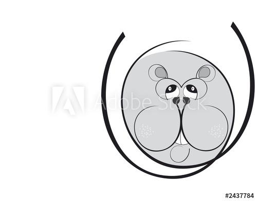 Topo clipart black and white image black and white stock clipart topo ippopotamo - Buy this stock illustration and ... image black and white stock