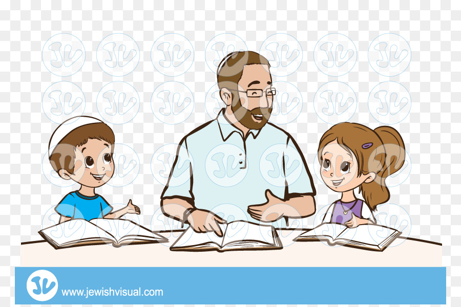 Torah study clipart graphic library download Father Cartoon clipart - Torah, Illustration, Father ... graphic library download