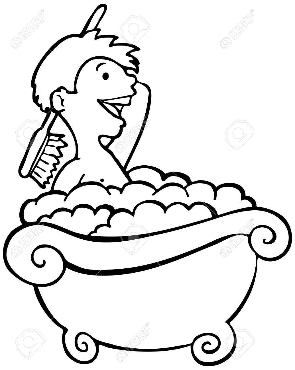 Toran clipart black and white graphic library Taking bath clipart black and white 2 » Clipart Portal graphic library
