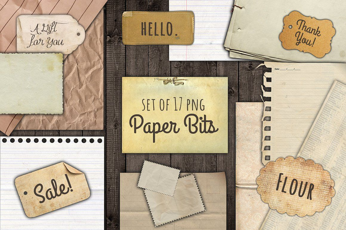 Torn paper clipart wth tape on edges banner library stock Paper Bits and Scraps Graphic Set torn paper notebook paper ... banner library stock