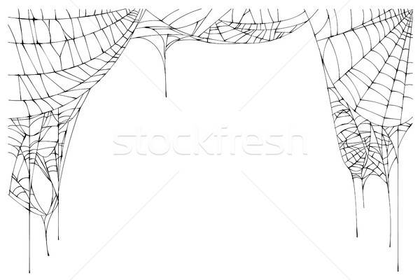 Torn spider web clipart black and white picture download Spider web isolated Stock Vectors, Illustrations and ... picture download