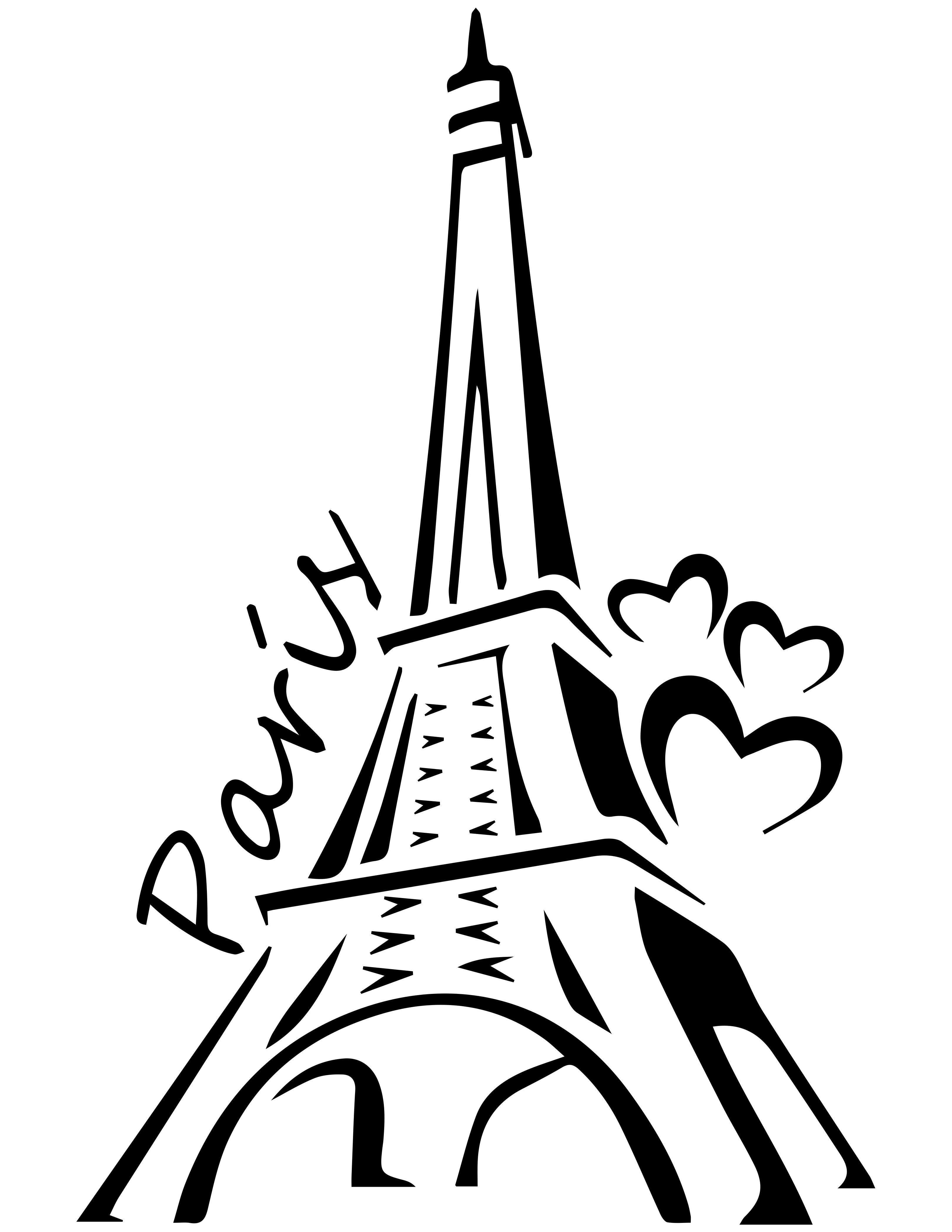Torre eiffel dibujo clipart jpg Pin by Hilary Alford on Silhouette | Eiffel tower painting ... jpg